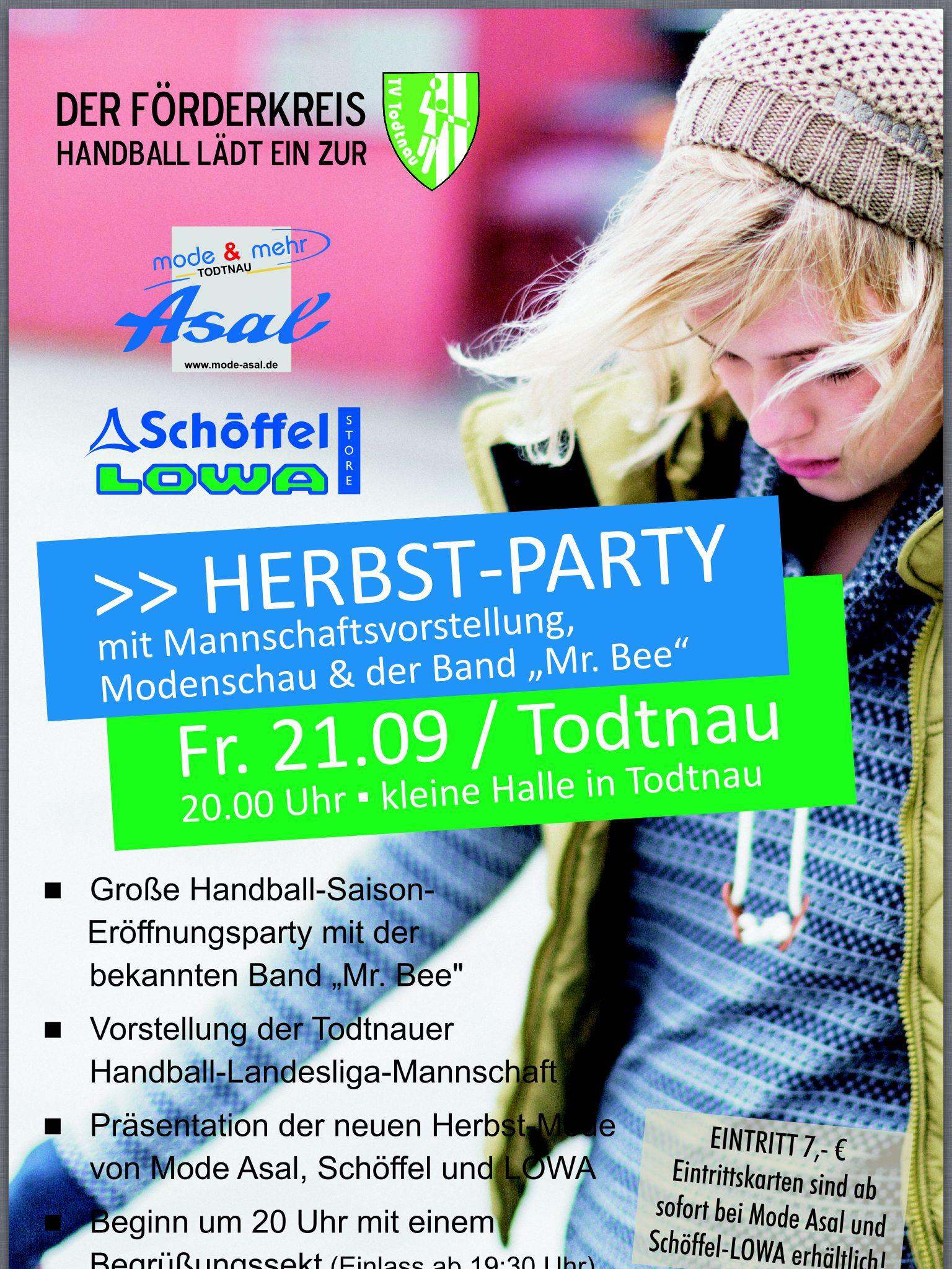 Herbstparty & Modeschau